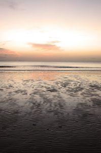 sunset beach light