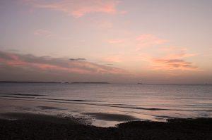 sunset beach darker
